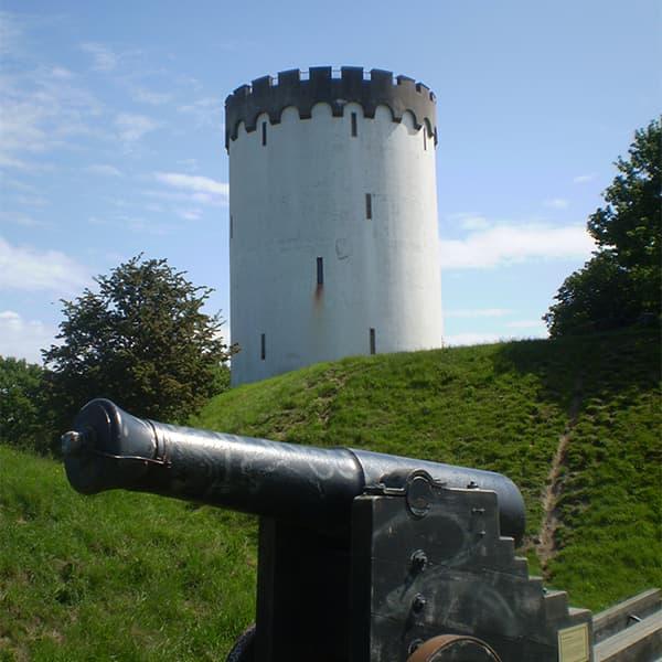 kanon og tårn i fredericia