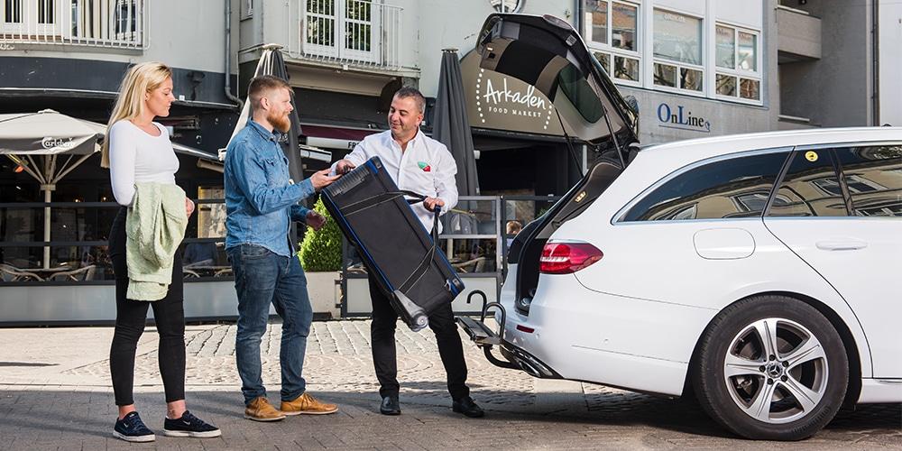 taxa med plads til stor bagage